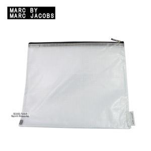 マークバイマークジェイコブス ケース 196279 BOOK MARC クリア ラージ ジップ ポーチ MARC BY MARC JACOBS ag93800|store-goods