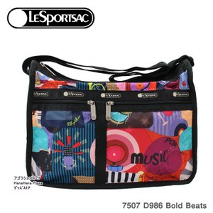 レスポートサック バッグ 7507 D986 Bold Beats デラックスエブリデイ  斜め掛け  Deluxe Everyday Bag ショルダーバッグ LESPORTSAC ag-950200|store-goods