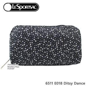レスポートサック ポーチ 6511 E018 DITSY DANCE レクタンギュラーコスメティックポーチ RECTANGULAR COSMETIC  化粧ポーチ LeSportsac レスポ ag-956100|store-goods