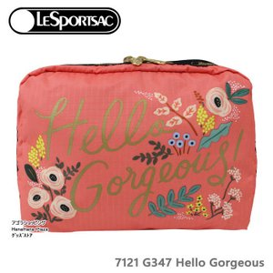 レスポートサック ポーチ 7121 G347 ライフルペーパー コラボ HELLO GORGEOUS EXTRA LARGE RECTANGUL  XL  ag-959500 store-goods