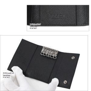 プラダ PRADA ロゴプレート  2PG222 QME NERO 6連フック キーケース サフィアーノ メタル SAFFIANO METAL PORTACHIAVI GANCI ag-968800|store-goods|02