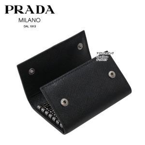 プラダ PRADA ロゴプレート  2PG222 QME NERO 6連フック キーケース サフィアーノ メタル SAFFIANO METAL PORTACHIAVI GANCI ag-968800|store-goods|04