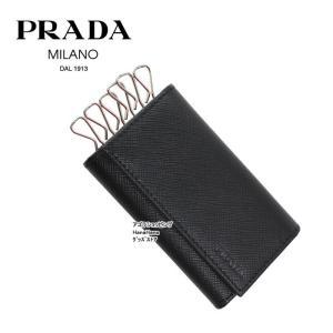 プラダ PRADA 型押しロゴ  2PG222 053 NERO 6連フック キーケース サフィアーノ SAFFIANO PORTACHIAVI GANCI ag-969000|store-goods