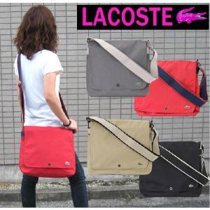 【訳あり返品不可】 LACOSTE ラコステ メッセンジャーバッグ Mサイズ 男女兼用 18497-1548 M86 4色 ME-1441|store-goods