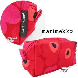 【訳あり返品不可】um-47 マリメッコ marimekko ポーチ レッド/ダークレッド 42446-301 TAIMI MINI UNIKKO 2 ウニッコ柄 コスメポーチ ペンポーチ 化粧ポーチ|store-goods