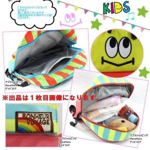 【訳あり返品不可】wt-734 ターンオーバー バッグ リュック キッズ ベビー TURN OVER K-649 アイボリ ボーダーフェイスデイパック ニコ  遠足 子供 SSサイズ|store-goods