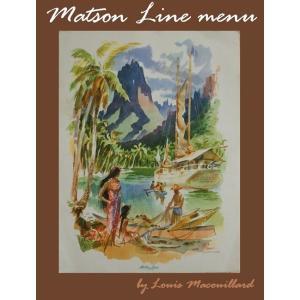ヴィンテージmatsonマトソンライン メニューtahitiタヒチ ルイス・マクーリアルLouis Macouillardハワイアン雑貨のお好きな方に HAWAII