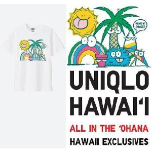 あすつく商品 ハワイ限定 UNIQLO UT ユニクロ メンズTシャツFEEL HAWAII GRA...