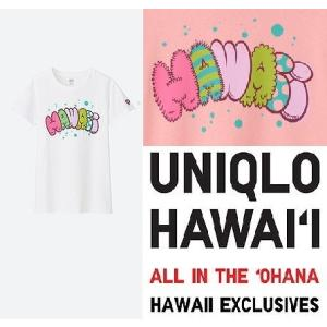 あすつく商品 ハワイ限定 UNIQLO UT ユニクロ レディースTシャツFEEL HAWAII G...