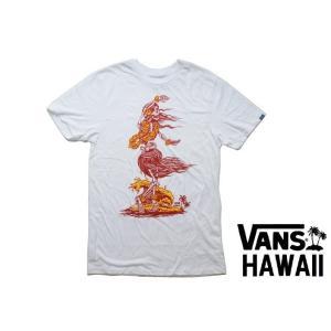 あすつく商品 VANS ハワイ限定 プリントTシャツ DEAD HULA 白 ホワイト HAWAII