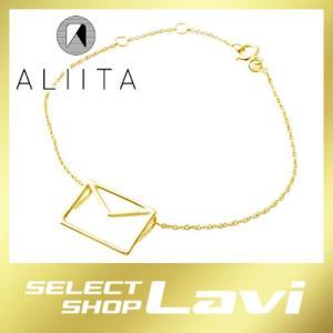 アリータ ALIITA CARITA PURA CHAIN BRACELET 9KYG カリタ レター 封筒モチーフ ブレスレット ラッピング無料|store-jck