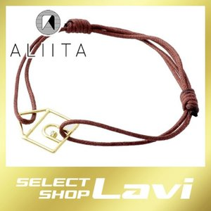アリータ ALIITA CASTIA BRILLANTE CORD BRACELET 9KYG×HWダイヤモンド カシータ 家モチーフ コード ブレスレット ラッピング無料|store-jck