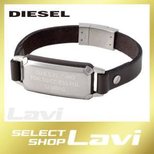 ディーゼル DIESEL DX1018040  ロゴプレート&レザー メンズ ブレスレット ブレイブマン ラッピング無料|store-jck