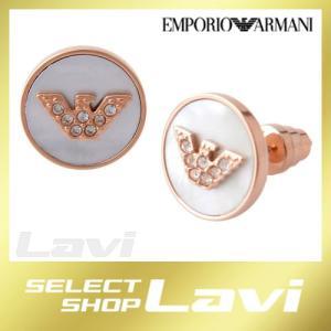 エンポリオアルマーニ EMPORIO ARMANI EGS2311221 イーグルロゴ スタッド ピアス IP RG/PP Stones/MOP ラッピング無料 store-jck