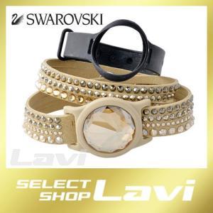 スワロフスキー SWAROVSKI 5256206 Activity Crystal Set Beige スポーツバンド/ダブルラップ 2重巻タイプ クリスタル ブレスレット セット ラッピング無料|store-jck