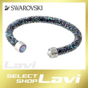 スワロフスキー SWAROVSKI 5292445 Crystaldust パラダイスシャイン クリスタルロック カフ バングル ブレスレット Sサイズ ラッピング無料|store-jck