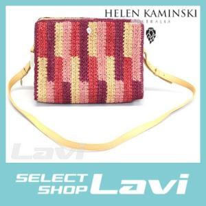 ヘレンカミンスキー  デスピナ タイル 手編み ラフィア レザー クラッチ ショルダーバッグ かごバッグ  ラッピング無料|store-jck