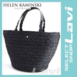 ヘレンカミンスキー Rhyce M Charcoal Black 2016SS ラフィア製 手編み レザー  かご・トートバッグ ミディアムサイズ ラッピング無料|store-jck