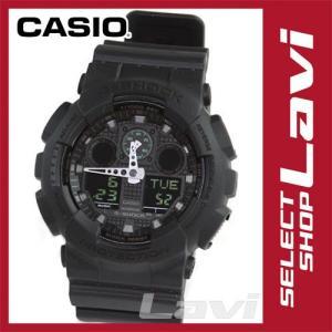 カシオ 腕時計 GA100MB-1A  Military black series ミリタリーブラック シリーズ  GA-100MB-1A  G-SHOCK 海外モデル ラッピング無料|store-jck
