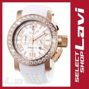 MAX マックス 腕時計  国内正規商品 MAX488 47mm Face ピンクゴールド ホワイト クロノグラフ ウォッチ ラッピング無料|store-jck
