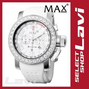 MAX マックス 腕時計  国内正規商品 MAX487 47mm Face シルバー ホワイト クロノグラフ ウォッチ ラッピング無料|store-jck