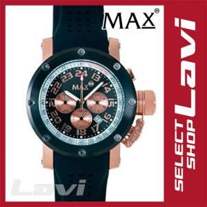 MAX マックス 腕時計  国内正規商品 MAX425 47mm Face  ブラック、ピンクゴールド ブラック クロノグラフ ウォッチ ラッピング無料|store-jck