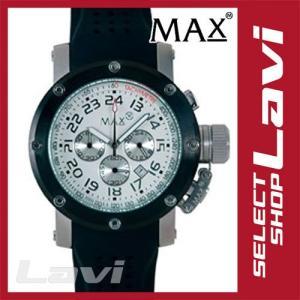 MAX マックス 腕時計  国内正規商品 MAX426 47mm Face  ブラック、シルバー ブラック クロノグラフ ウォッチ ラッピング無料|store-jck