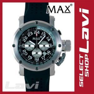 MAX マックス 腕時計  国内正規商品 MAX421 47mm Face シルバー ブラック クロノグラフ ウォッチ ラッピング無料|store-jck