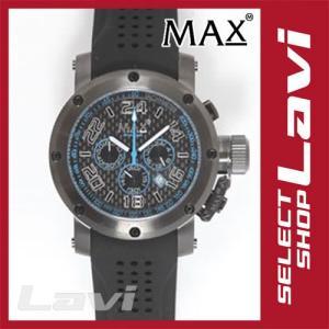 MAX マックス 腕時計  国内正規商品 MAX532 47mm Big Face ブラック ブラック クロノグラフ ウォッチ ラッピング無料|store-jck