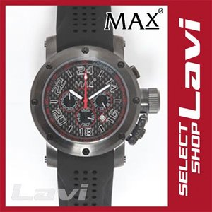 MAX マックス 腕時計  国内正規商品 MAX533 47mm Big Face ブラック ブラック クロノグラフ ウォッチ ラッピング無料|store-jck
