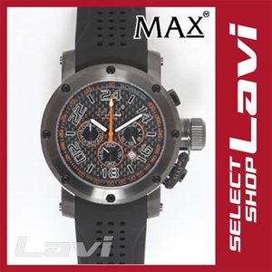 MAX マックス 腕時計  国内正規商品 MAX534 47mm Big Face ブラック ブラック クロノグラフ ウォッチ ラッピング無料|store-jck