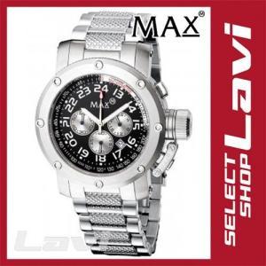お買得◇MAX マックス 腕時計  国内正規商品 MAX480 47mm Face シルバー シルバー クロノグラフ ウォッチ ラッピング無料|store-jck