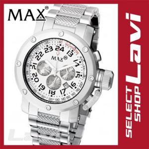 MAX マックス 腕時計  国内正規商品 MAX481 47mm Face シルバー シルバー クロノグラフ ウォッチ ラッピング無料|store-jck