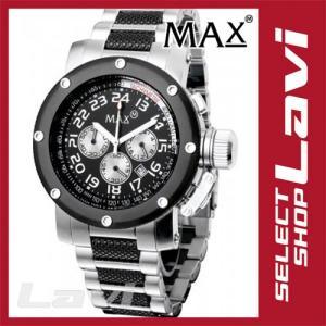 MAX マックス 腕時計  国内正規商品 MAX483 47mm Face ブラック、シルバー ブラック、シルバー クロノグラフ ウォッチ ラッピング無料|store-jck