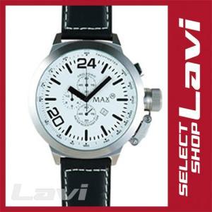 MAX マックス 腕時計  国内正規商品 MAX396 55mm Big Face シルバー ブラック クロノグラフ ウォッチ ラッピング無料|store-jck