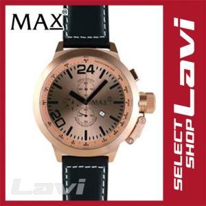 MAX マックス 腕時計  国内正規商品 MAX398 55mm Big Face ピンクゴールド ブラック クロノグラフ ウォッチ ラッピング無料|store-jck
