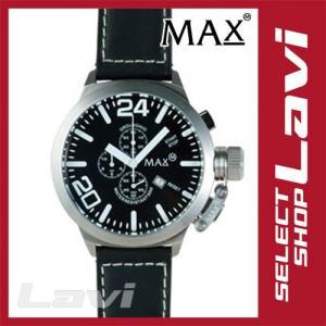MAX マックス 腕時計  国内正規商品 MAX033 52mm Big Face シルバー ブラック クロノグラフ ウォッチ ラッピング無料|store-jck