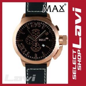 MAX マックス 腕時計  国内正規商品 MAX324 52mm Big Face ピンクゴールド ブラック クロノグラフ ウォッチ ラッピング無料|store-jck