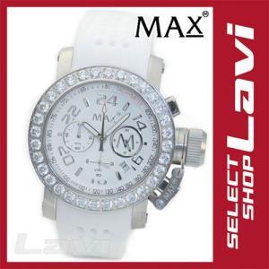 MAX マックス 腕時計 42mm FaceLine ラインストーンベゼルが眩い グラマラスなクロノグラフ ウオッチ 5-MAX486 ラッピング無料|store-jck