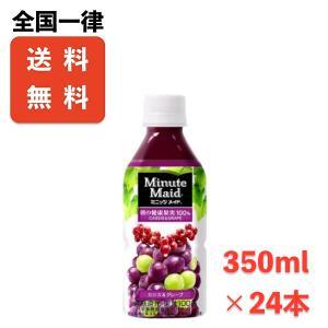 送料無料 ミニッツメイドカシス&グレープ 350mlPET×24本 メーカー直送|store-makotogokoro