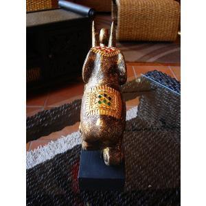 象オブジェ(黒) タイ オブジェ 置物 インテリア アジアン雑貨 木製 木彫り|store-monsoon|04