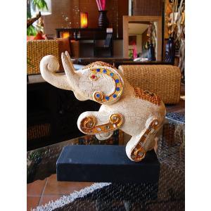 象オブジェ(白) タイ オブジェ 置物 インテリア アジアン雑貨 木製 木彫り|store-monsoon|03