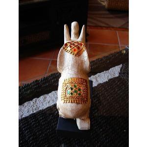 象オブジェ(白) タイ オブジェ 置物 インテリア アジアン雑貨 木製 木彫り|store-monsoon|04