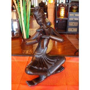 タイ オブジェ  インテリア アジアン雑貨 置物 木彫り人形 彫刻|store-monsoon
