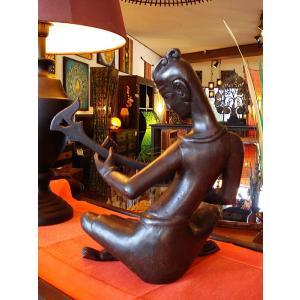 タイ オブジェ  インテリア アジアン雑貨 置物 木彫り人形 彫刻|store-monsoon|04