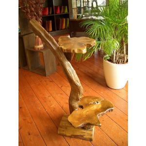 アジアンインテリア アジアン家具 バリ島 ◆チーク ハンドメイド 2段飾り棚(A)◆ store-monsoon
