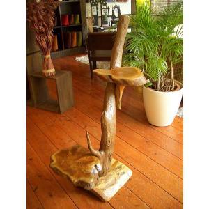 アジアンインテリア アジアン家具 バリ島 ◆チーク ハンドメイド 2段飾り棚(B)◆ store-monsoon