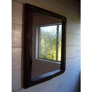 アジアンインテリア  鏡 ミラー 木製 無垢【オールドチークフレーム ミラー】|store-monsoon