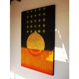 アジアン アート オリエンタルモダン タイペイントアート 120×80 絵画 店舗ディスプレイ用 アートパネル|store-monsoon