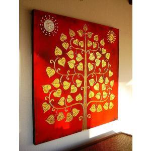 アジアンアート オリエンタルモダン絵画 アートフレーム 壁飾り  タイアート|store-monsoon